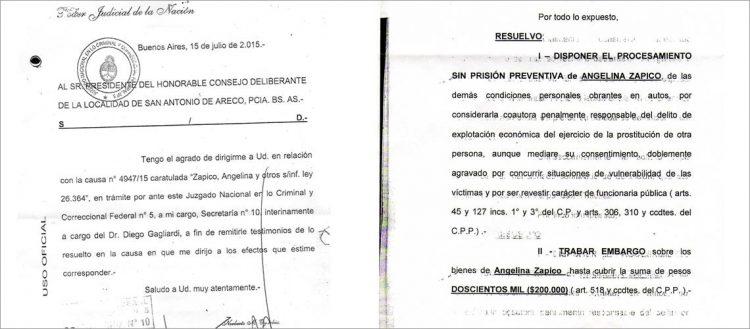 Resolución del Juez Oyarbide caso Zapico