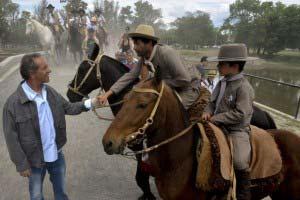 Daniel Scioli junto a Francisco Durañona en la 76° Fiesta de la Tradición