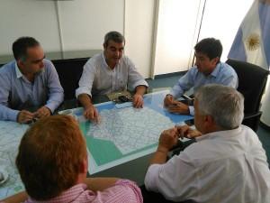 Encuentro entre el Intendente y el Ministro de Infraestructura Cenzón