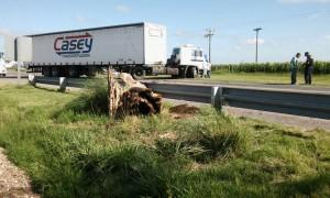 Accidente a metros del Peaje de la Ruta Nacional Nº 8