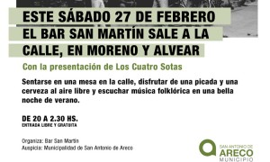 La noche de los Bares este sábado en el Bar San Martín
