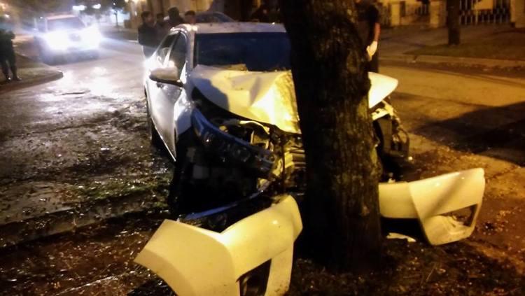 Accidente en calle Vieytes y Pasaje de los Irlandeses