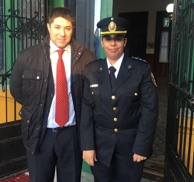 Concejal Miguel Amadeo con Corina Czudyk
