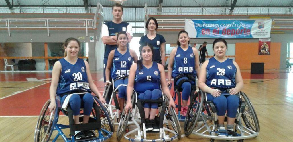 Seleccionado argentino de basquet femenino sobre silla de ruedas