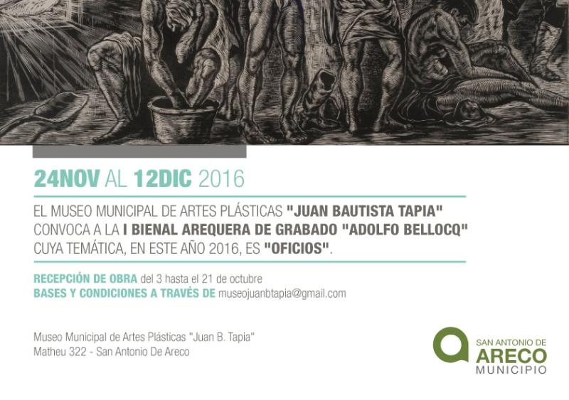 "1ra Bienal Arequera del Grabado ""Adolfo Bellocq"""