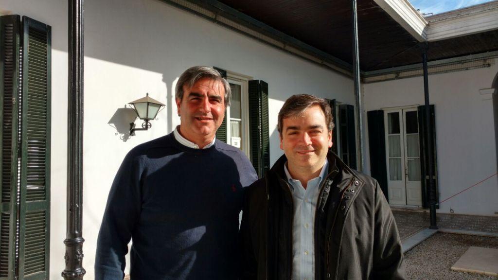 Rodrigo Silvosa, Subsecretario de Infraestructura Hidráulica de la Pcia. de Bs.As con el Intendente Francisco Durañona