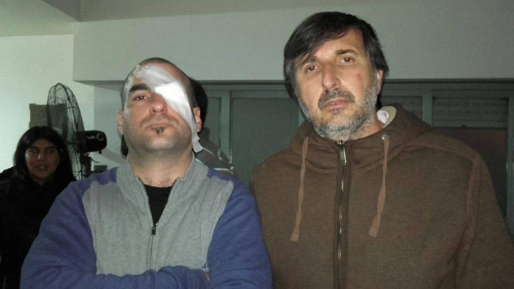 Fuerte represión de Gendarmería en el peaje Larena - Foto: Boreal Multimedia