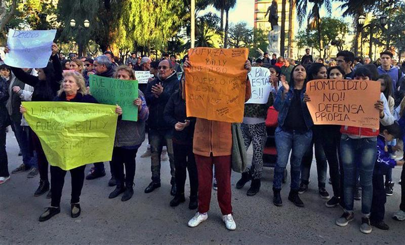 Protesta en Zárate - Foto: La Nación