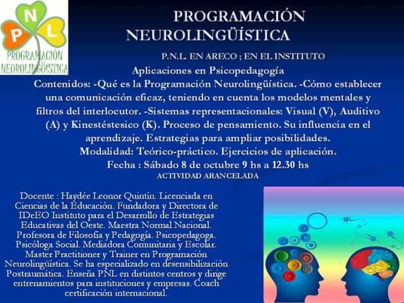 Charla sobre Programación Neurolingüística