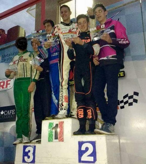 Juan Manuel Trillo en el podio