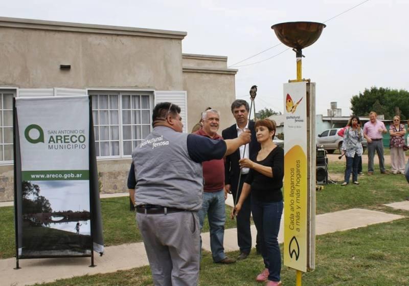 El Municipio de Areco y Gas Natural Fenosa inauguraron la red de gasificación en el Barrio Los Naranjos