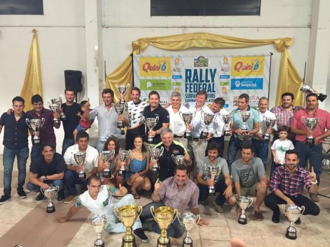 Fiesta de entrega de premios. Foto: Rally Federal