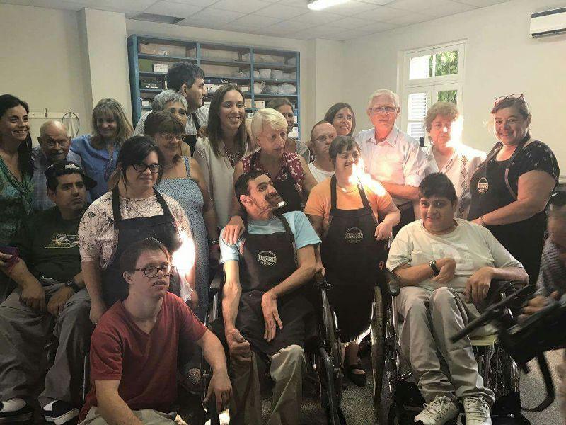 La Gobernadora María Eugenia Vidal en la Asociación para la Promoción de la Persona con Discapacidad A.P.R.O.P.D.I.S