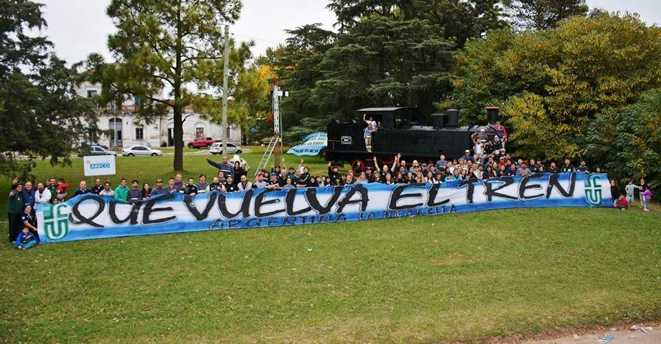 La Uni 243 N Ferroviaria Argentina Realiz 243 Un Abrazo Simb 243 Lico